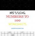 Missing Numbers to 100 Worksheets