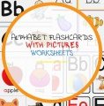 Alphabet Flashcards with Pictures Worksheets