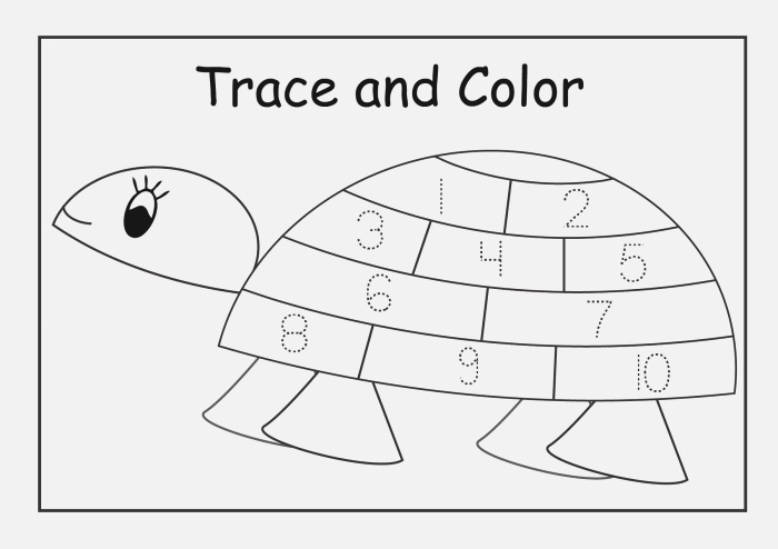 Traceable Numbers 1 10 Worksheets to Print