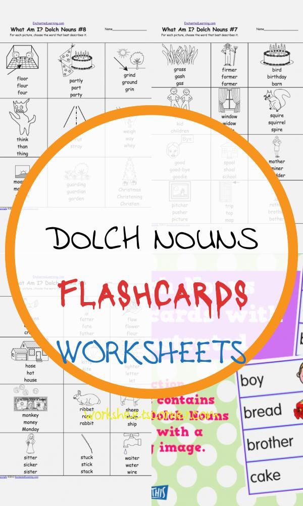 Dolch Nouns Flashcards Worksheets