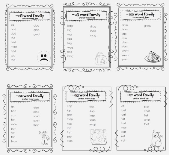 Word Families Words and Word Work On Pinterest